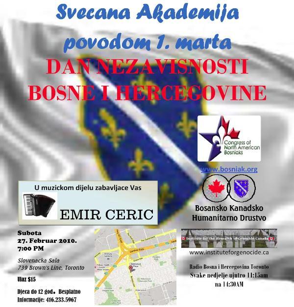 Svecana Akademija Povodom Dana Nezavisnosti Bosne i Hercegovine