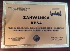 U Chicagu obilježen Dan Nezavisnosti Bosne i Hercegovine
