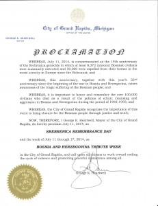 City of Grand Rapids Proclamation 2014