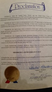 pinellas park 2014 srebrenica proclamation